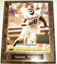 Adrian Peterson Oklahoma Sooners NCAA 10.5x13 Plaque