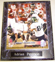 Adrian Peterson Oklahoma Sooners NCAA 10.5x13 Plaque - apetersonp5