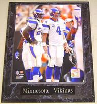Adrian Peterson & Brett Favre Minnesota Vikings NFL 10.5x13 Plaque
