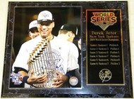 Derek Jeter New York Yankees 2009 World Series Champions 12x15 Plaque - customjeterpl2