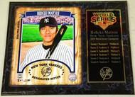 Hideki Matsui New York Yankees 2009 World Series Champions 12x15 Plaque