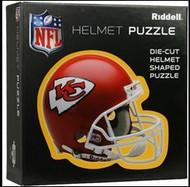 "Kansas City Chiefs Riddell NFL 16""x16"" Helmet Puzzle 100 Pieces"