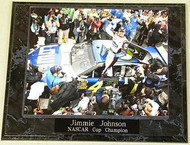 Jimmie Johnson 10.5x13 NASCAR Cup Champion Plaque