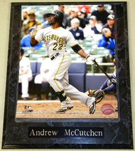 Andrew McCutchen Pittsburgh Pirates MLB 10.5x13 Plaque