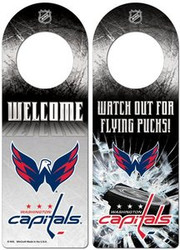 Washington Capitals NHL Team Logo Wincraft 11.75x4.125 Wood Door Hanger
