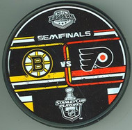 2010 NHL Eastern Conference Semifinals Dueling Boston Bruins vs. Philadelphia Flyers Hockey Puck