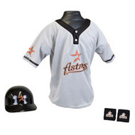 Houston Astros Franklin Youth MLB Kids Team Helmet, Jersey & Wristband Set