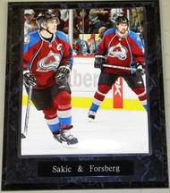 Joe Sakic & Peter Forsberg Colorado Avalanche NHL 10.5x13 Plaque