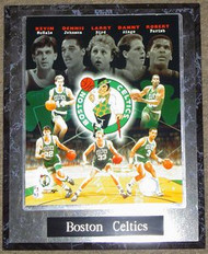 Boston Celtics Robert Parrish, Kevin McHale, Larry Bird, Dennis Johnson & Danny Ainge NBA 10.5x13 Plaque