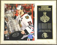 Jonathan Toews Chicago Blackhawks 2010 Stanley Cup Champions NHL 15 x 12 Plaque