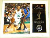 Ray Allen Boston Celtics NBA Champions 15x12 Plaque