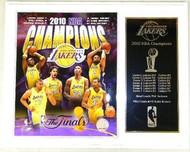 Los Angeles Lakers 2010 NBA Champions 12x15 Plaque Kobe Bryant, Odom, Gasol, Bynum, Fisher & Artest