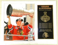 Jonathan Toews Chicago Blackhawks 2010 Stanley Cup Champions 15x12 NHL Plaque
