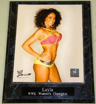 Layla WWE Women's Champion Wrestling 10.5x13 Plaque