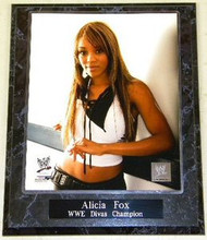 Alicia Fox WWE Divas Champion Wrestling 10.5x13 Plaque