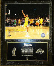 Kobe Bryant Los Angeles Lakers 2010 NBA Champions 15x12 Plaque