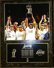 Los Angeles Lakers 2010 NBA Champions 15x12 Plaque Kobe Bryant
