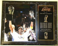Kobe Bryant Los Angeles Lakers 2010 NBA Champions & Finals MVP 15x12 Plaque