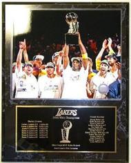 Los Angeles Lakers 2010 NBA Champions 15x12 Plaque Kobe Bryant - lal2010cpl5