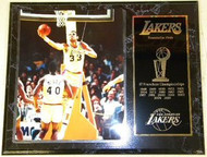 Kareem Abdul-Jabbar Los Angeles Lakers Franchise History 12x15 17 NBA Championships Plaque