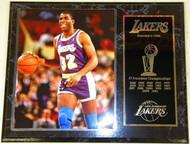 Magic Johnson Los Angeles Lakers Franchise History 12x15 17 NBA Championships Plaque
