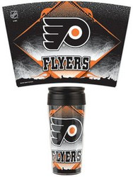 Philadelphia Flyers NHL Team Logo Wincraft Contour 16oz Sealable Flip Top Cover Plastic Travel Mug