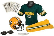 Green Bay Packers Franklin Deluxe Youth / Kids Football Uniform Set - Size Medium