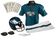Philadelphia Eagles Franklin Deluxe Youth / Kids Football Uniform Set - Size Medium
