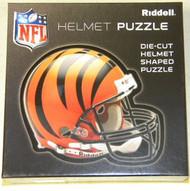 "Cincinnati Bengals Riddell NFL 16""x16"" Helmet Puzzle 100 Pieces"