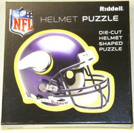 "Minnesota Vikings Riddell NFL 16""x16"" Helmet Puzzle 100 Pieces"
