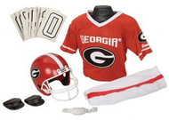 Georgia Bulldogs Franklin Deluxe Youth / Kids Football Uniform Set - Size Small
