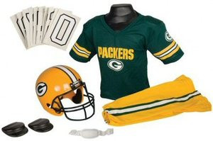 a817f795 Green Bay Packers Franklin Deluxe Youth / Kids Football Uniform Set ...