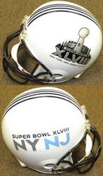 Super Bowl XLVIII 48 Riddell NFL Deluxe Full Size Helmet New York New Jersey 02.02.14
