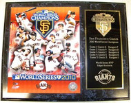 San Francisco Giants 2010 World Series Champions 12x15 Plaque