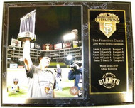 Matt Cain San Francisco Giants 2010 World Series Champions 12x15 Plaque