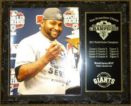 Pablo Sandoval San Francisco Giants 2012 World Series Champions MVP Trophy & Car Keys 12x15 Plaque
