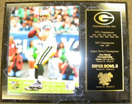 Aaron Rodgers Green Bay Packers Championship History 12x15 Plaque