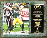 Clay Matthews Green Bay Packers Super Bowl Champions 12x15 Plaque
