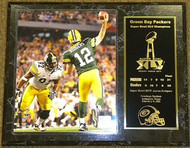 Aaron Rodgers Green Bay Packers Super Bowl XLV 45 Champions 12x15 Plaque - aaronrodgerspl7