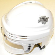 Los Angeles Kings NHL White Throwback Player Mini Hockey Helmet - kingswptbmh1