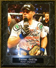 Forrest Griffin UFC MMA World Champion 10.5x13 Plaque