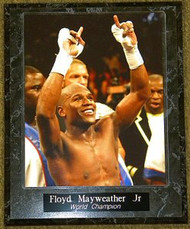 Floyd Mayweather Jr Boxing World Champion 10.5x13 Plaque