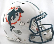 Miami Dolphins 1997-2012 Throwback Riddell NFL Authentic Revolution SPEED Pro Line Full Size Helmet