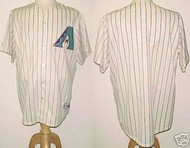 Arizona Diamondbacks White Majestic Throwback Home 2001 Blank XL Jersey