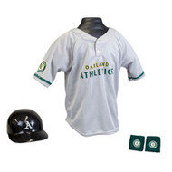 Oakland Athletics A's Franklin Youth MLB Kids Team Helmet, Jersey & Wristband Set