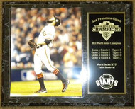 Sergio Romo San Francisco Giants 2012 World Series Champions Final Out 12x15 Plaque