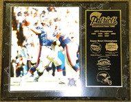Drew Bledsoe New England Patriots Super Bowl Champions 12x15 Plaque