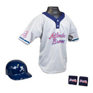 Atlanta Braves Franklin Youth MLB Kids Team Helmet, Jersey & Wristband Set