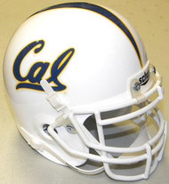 California Golden Bears WHITE Schutt NCAA College Football Authentic Team Mini Helmet
