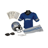 Detroit Lions Franklin Deluxe Youth / Kids Football Uniform Set - Size Medium